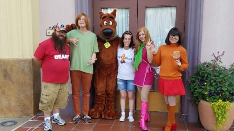 Universal Orlando Character Day with Ryan and Heather April 2016 (24) Shaggy, Scooby, Daphne, Velma