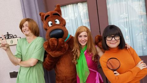 Universal Orlando Character Day with Ryan and Heather April 2016 (25) Shaggy, Scooby, Daphne, Velma