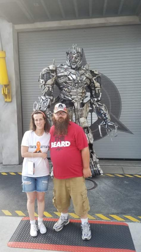 Universal Orlando Character Day with Ryan and Heather April 2016 (5) Megatron