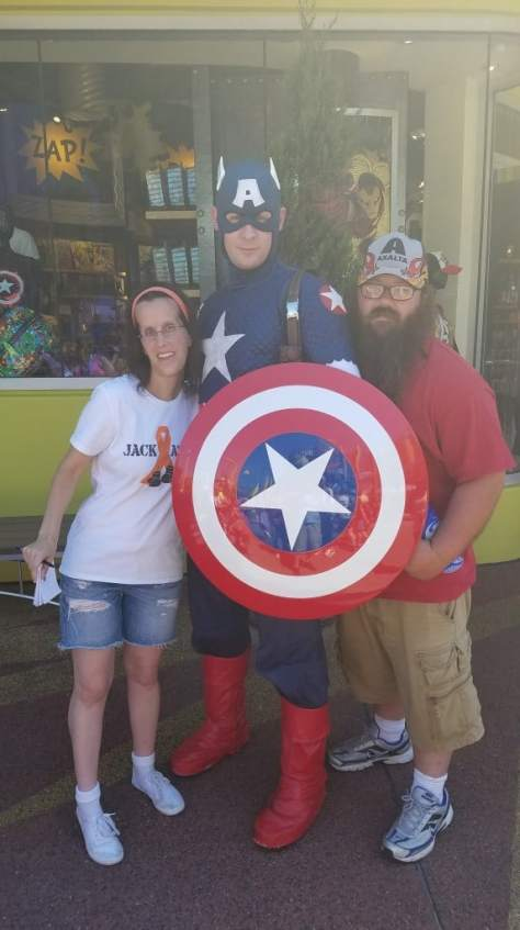 Universal Orlando Character Day with Ryan and Heather April 2016 (64) Captain America