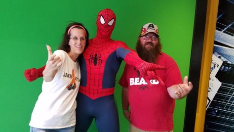 Universal Orlando Character Day with Ryan and Heather April 2016 (75) Spider Man