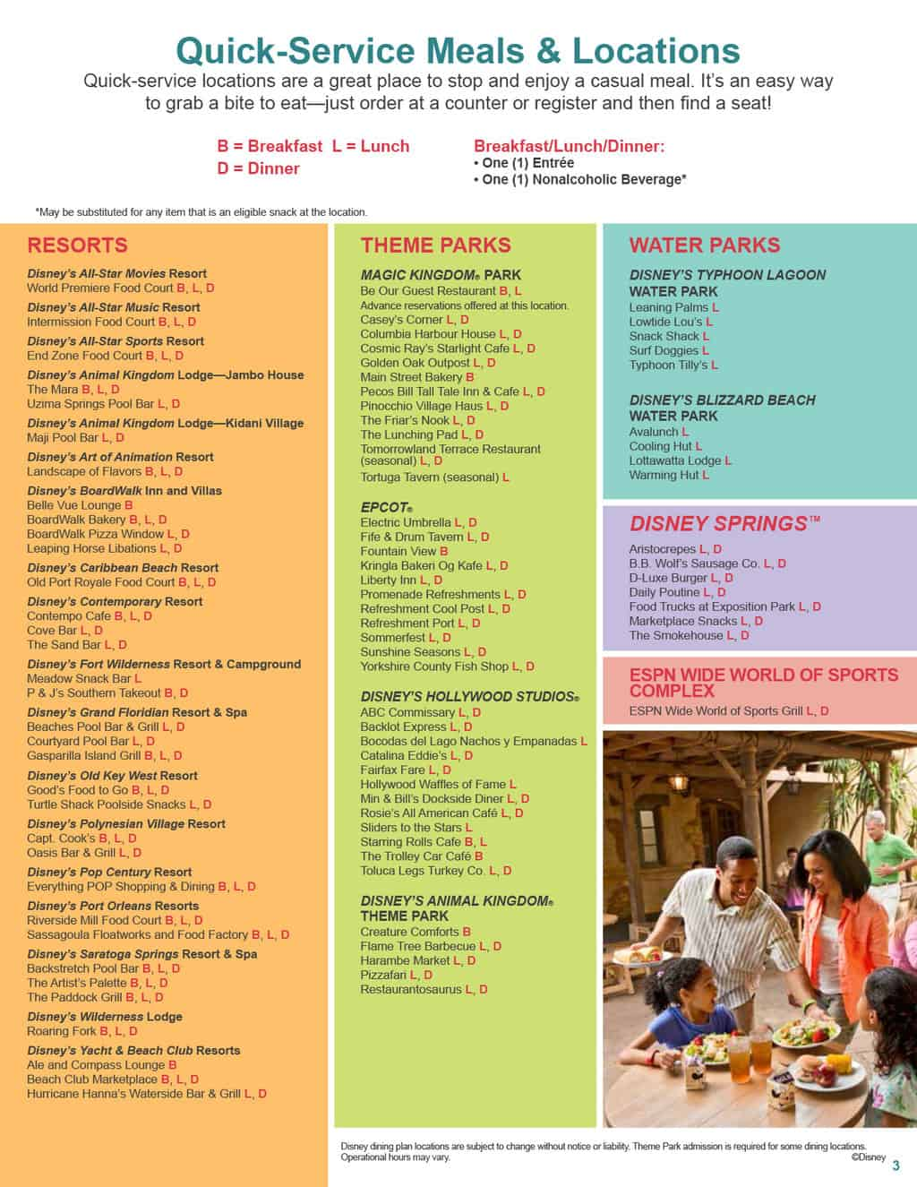 Free disney dining plan 2016 dates - 2017 Disney Dining Plan 3