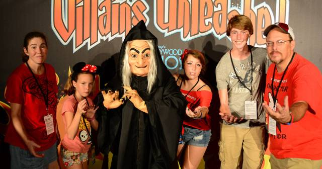 Witch from Snow White at Villains Unleashed at Hollywood Studios August 2014