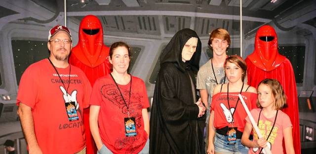 Emperor Palpatine and Royal Guards at Villains Unleashed at Hollywood Studios August 2014