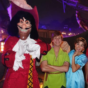 Captain Hook Peter Pan and Wendy at Disneyland Mickey's Halloween Party