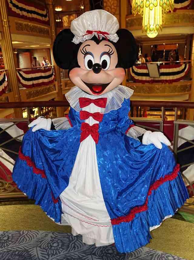 Patriotic Minnie on the Disney Fantasy July 2016