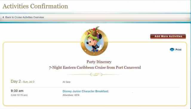How to book special meet and greets on a Disney Cruise (4)