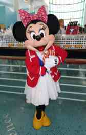 Minnie Mouse at Disney Cruise Terminal