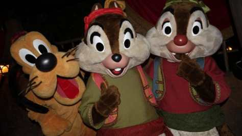 Pluto Chip n Dale Pirates Disneyland Mickey's Halloween Party 2015