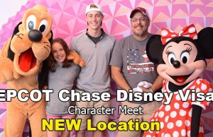Epcot Chase Disney Visa character meet NEW location!
