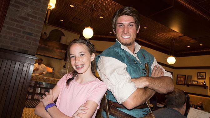Bon Voyage Adventure Breakfast at Trattoria al Forno on Disney World Boardwalk Flynn Rider (2)