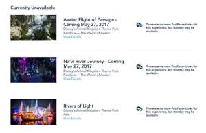 Update on Pandora Fastpass availability