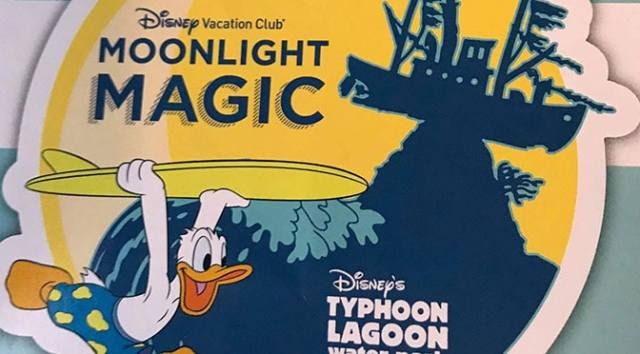 DVC Moonlight Madness Typhoon Lagoon June 2017 including Sebastian, Tourist Genie and Donald Duck