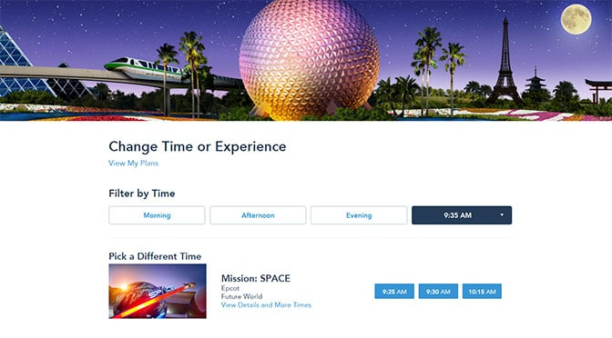 Mission Space reopening soon with a new mission