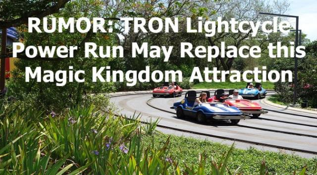 RUMOR: TRON Lightcycle Power Run May Replace Magic Kingdom Attraction