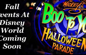 Fall Events At Disney World Coming Soon