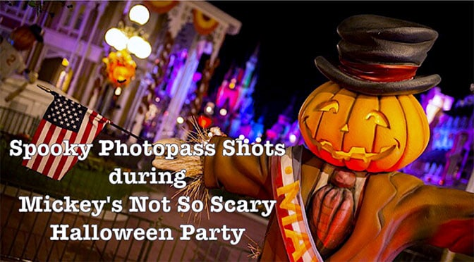 spooky photopass shots during not so scary halloween party