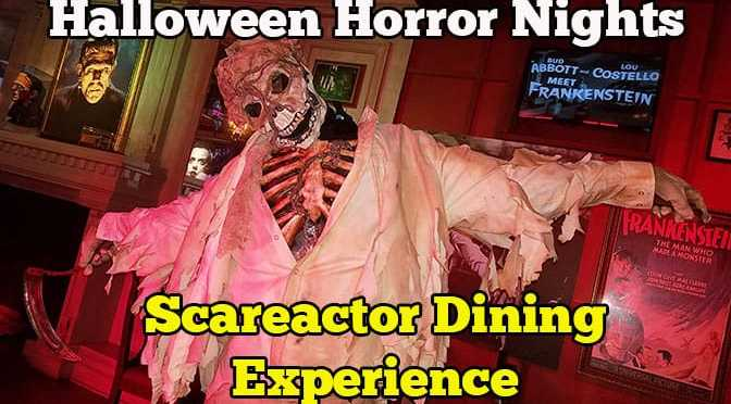 review scareactor dining experience at universal orlando halloween horror nights