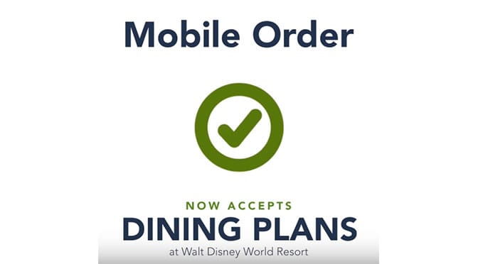 Disney World Guests can now use Mobile Order with the Disney Dining Plan!