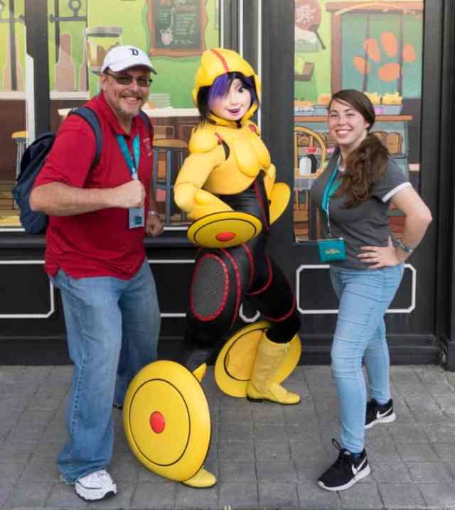Gogo Tomago from Big Hero 6 at Fandaze in Disneyland Paris 2018