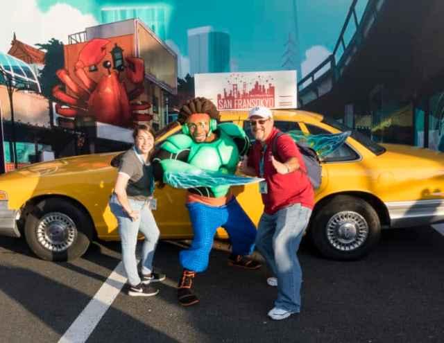 Wasabi from Big Hero 6 at Fandaze in Disneyland Paris 2018