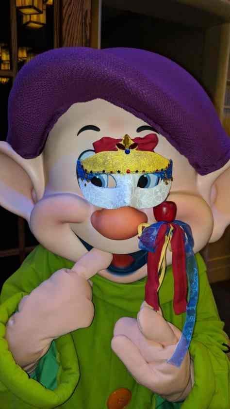 Dopey at Artist Point Storybook Dining at Disney's Wilderness Lodge