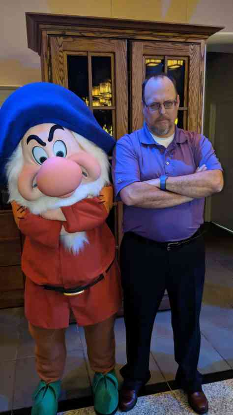 Grumpy at Artist Point Storybook Dining at Disney's Wilderness Lodge