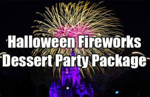 Halloween Fireworks Dessert Party Viewing Package