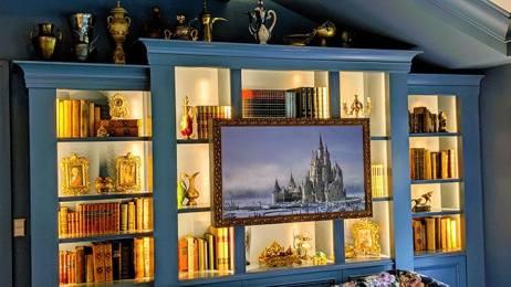 2 sets of book shelves with hidden treats