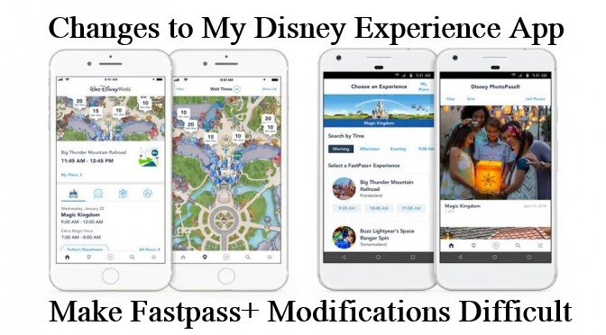 New My Disney Experience Update Makes Changing Fastpasses More Difficult
