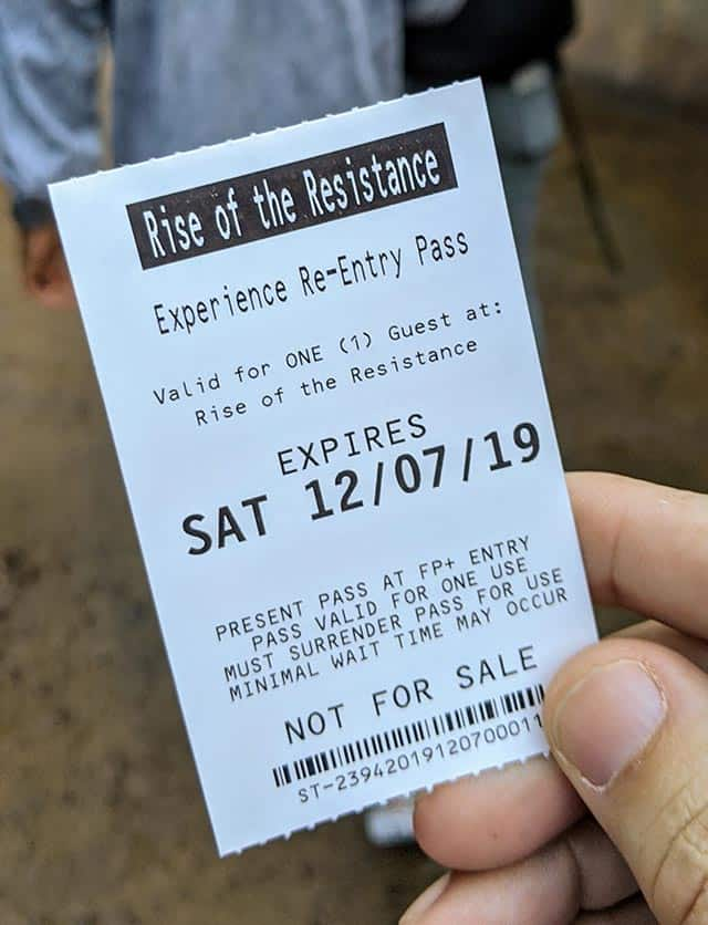 Rise of the Resistance Boarding pass
