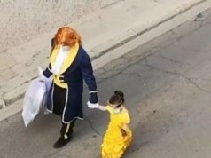 Adorable Father and Daughter Bring Magic to Neighborhood