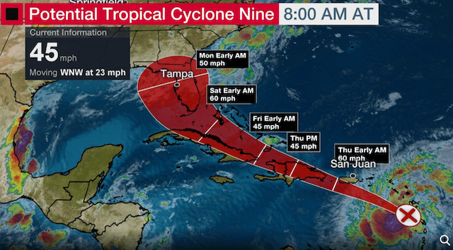 New Tropical Storm May Affect Central Florida this Weekend