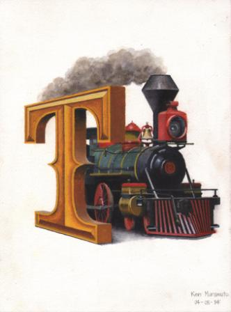Title: T is for Train Medium: Water color Date: April 8, 2014 Dimensions: 12 ¼ inches x 9 inches