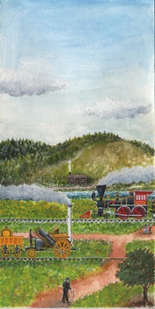 Title: Country Side Medium: Water color Date: April 25, 2013 Dimensions: 4 ½ inches x 9 inches