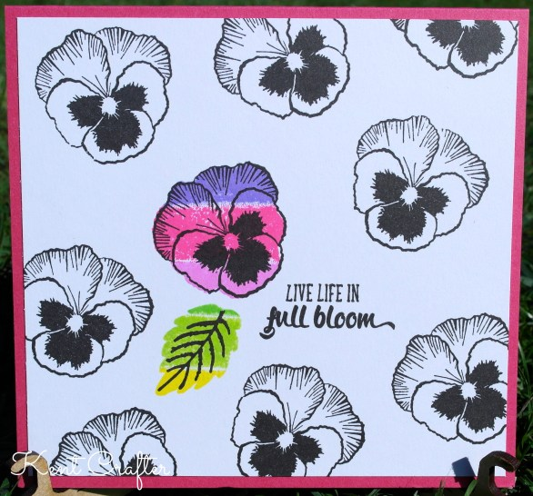Creative Stamping - Live Life in Full Bloom