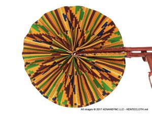 Kente-Dream African Print Folding Hand Fan