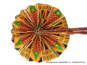 Kente-Show African Print Folding Hand Fan