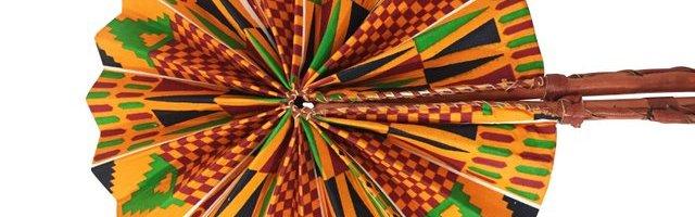 Kente Cloth Fan