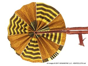 Safari-Wind African Print Folding Hand Fan