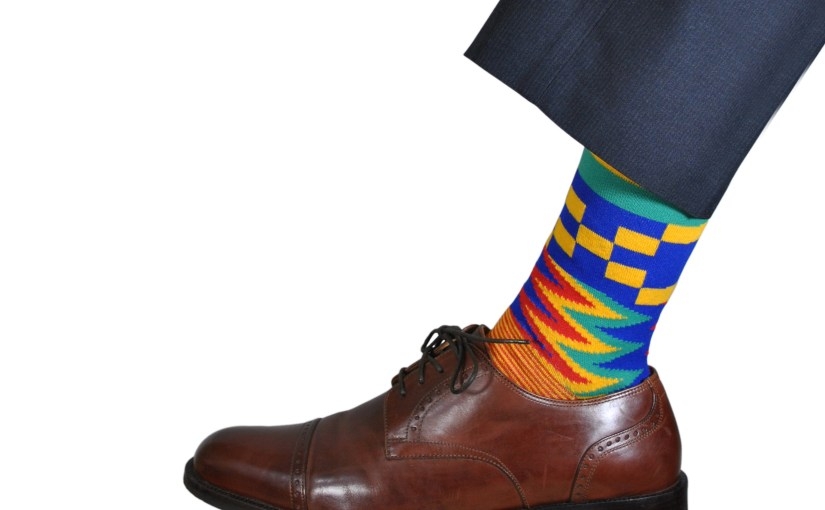 Kente Cloth Socks for Dress and Casual Novelty