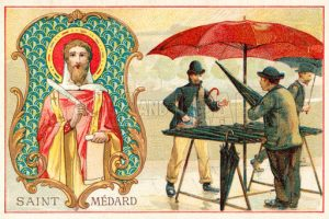 St Medardus, patron saint of the weather