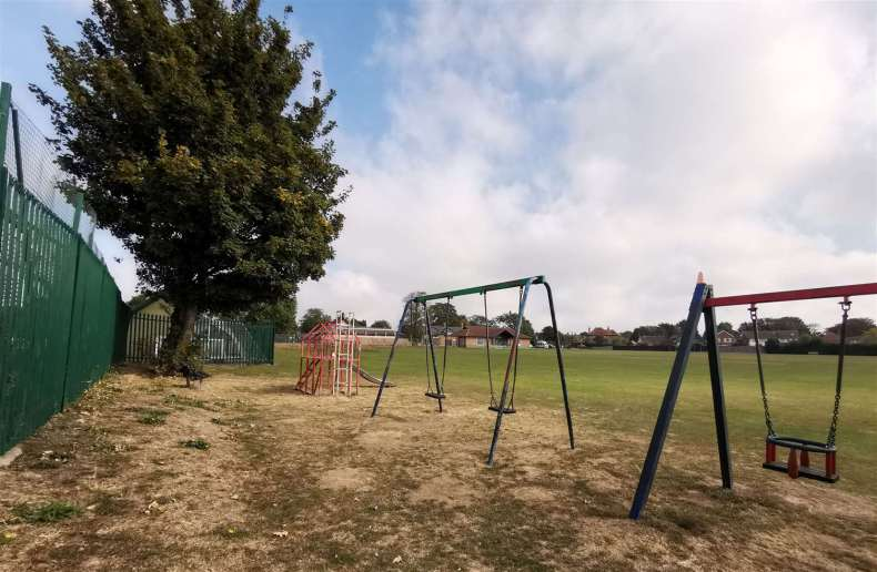 Children in the play area have been dive-bombed