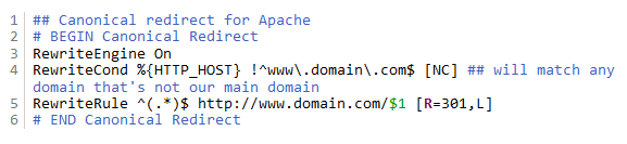 redirect domain apache lighttpd nginx
