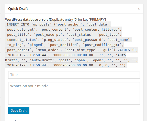 Cara Mengatasi WordPress database error: [Duplicate entry '0' for key 'PRIMARY']