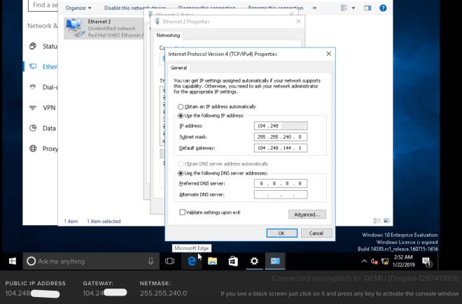Cara Mudah Install RDP Windows 10 di DigitalOcean – Kentos