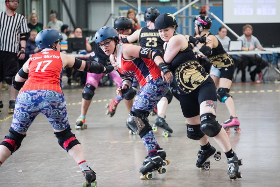 KRG's founder Demi Lition means business as she barges past Norfolk blockers