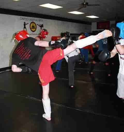 Jeremy in kickboxing class - Copy
