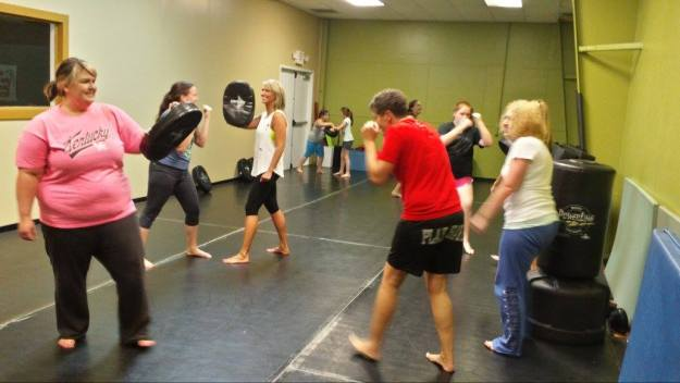 Women's Self-Defense Seminar Hitting Mitts 5-23-15