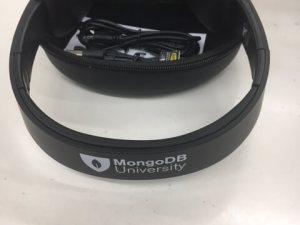 MongoDB University Headphones from MongoDB.local San Francisco